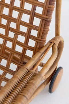Franco Albini Rare Pair of Wicker Chaise Longues - 1573007