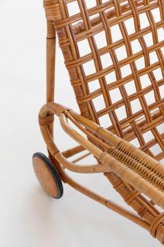 Franco Albini Rare Pair of Wicker Chaise Longues - 1573008
