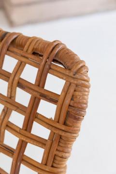 Franco Albini Rare Pair of Wicker Chaise Longues - 1573011
