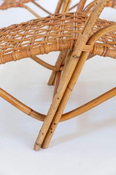 Franco Albini Rare Pair of Wicker Chaise Longues - 1573013