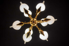 Franco Luce Fantastic Franco Luce for Seguso Murano Glass and Brass Chandelier 1970s - 1445646