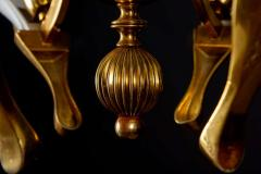 Franco Luce Fantastic Franco Luce for Seguso Murano Glass and Brass Chandelier 1970s - 1445653