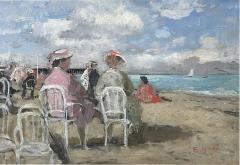 Francois Gall Beach Scene - 1876350