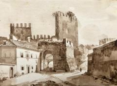 Francois Marius Granet View of Porta San Paolo Rome  - 1051790