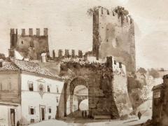 Francois Marius Granet View of Porta San Paolo Rome  - 1051793