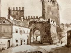 Francois Marius Granet View of Porta San Paolo Rome  - 1051794