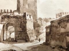 Francois Marius Granet View of Porta San Paolo Rome  - 1051795