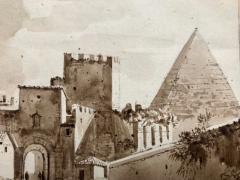 Francois Marius Granet View of Pyramid Cestius Rome  - 1051188
