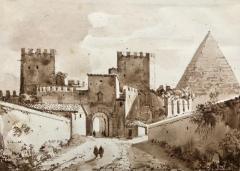 Francois Marius Granet View of Pyramid Cestius Rome  - 1051193