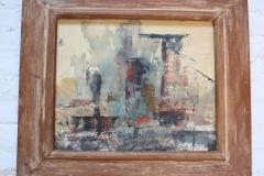 Frank Edwin Larson Frank Edwin Larson Abstract Oil and Gouache on Canvas - 618761