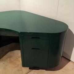 Frank Fletcher Art Deco Racing Green Fletcher Aviation Desk - 1256433