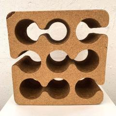 Frank Gehry Frank Gehry Easy Edges Cork and Corrugated Cardboard Nine Bottle Wine Rack - 1624206
