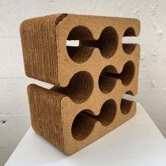 Frank Gehry Frank Gehry Easy Edges Cork and Corrugated Cardboard Nine Bottle Wine Rack - 1624208