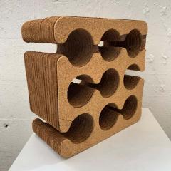 Frank Gehry Frank Gehry Easy Edges Cork and Corrugated Cardboard Nine Bottle Wine Rack - 1624210