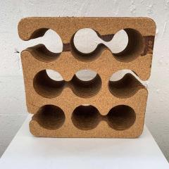 Frank Gehry Frank Gehry Easy Edges Cork and Corrugated Cardboard Nine Bottle Wine Rack - 1624212