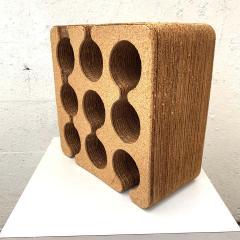 Frank Gehry Frank Gehry Easy Edges Cork and Corrugated Cardboard Nine Bottle Wine Rack - 1624214