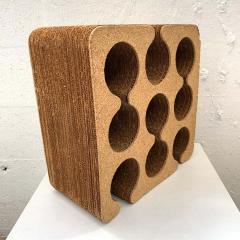 Frank Gehry Frank Gehry Easy Edges Cork and Corrugated Cardboard Nine Bottle Wine Rack - 1624215