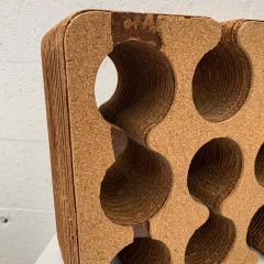 Frank Gehry Frank Gehry Easy Edges Cork and Corrugated Cardboard Nine Bottle Wine Rack - 1624218