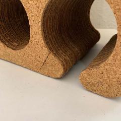 Frank Gehry Frank Gehry Easy Edges Cork and Corrugated Cardboard Nine Bottle Wine Rack - 1624219