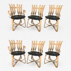 Frank Gehry Set of Four Dining and Two Captain Hat Trick Chairs by Frank Gehry for Knoll - 691386
