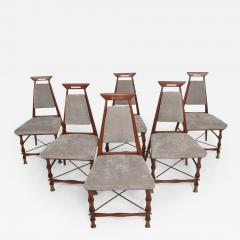 Frank Kyle Set of Six Dining Chairs After Frank Kyle Mexican Mid Century Modern - 458708