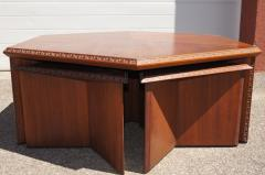 Frank Lloyd Wright Complete Taliesin Coffee Table Set by Frank Lloyd Wright for Heritage Henredon - 1026346