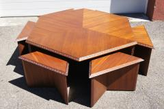 Frank Lloyd Wright Complete Taliesin Coffee Table Set by Frank Lloyd Wright for Heritage Henredon - 1026347
