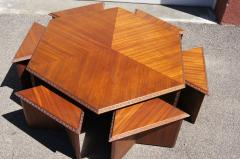 Frank Lloyd Wright Complete Taliesin Coffee Table Set by Frank Lloyd Wright for Heritage Henredon - 1026349