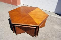 Frank Lloyd Wright Complete Taliesin Coffee Table Set by Frank Lloyd Wright for Heritage Henredon - 1026350