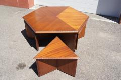Frank Lloyd Wright Complete Taliesin Coffee Table Set by Frank Lloyd Wright for Heritage Henredon - 1026353
