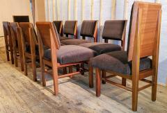 Frank Lloyd Wright Frank Lloyd Wright Suite of Ten Henredon Dining Chairs circa 1955 - 1155177