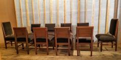 Frank Lloyd Wright Frank Lloyd Wright Suite of Ten Henredon Dining Chairs circa 1955 - 1155189