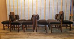 Frank Lloyd Wright Frank Lloyd Wright Suite of Ten Henredon Dining Chairs circa 1955 - 1155194