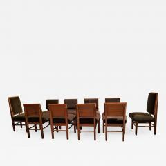 Frank Lloyd Wright Frank Lloyd Wright Suite of Ten Henredon Dining Chairs circa 1955 - 1155556