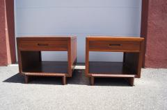 Frank Lloyd Wright Pair of Taliesin Nightstands by Frank Lloyd Wright for Heritage Henredon - 1026325