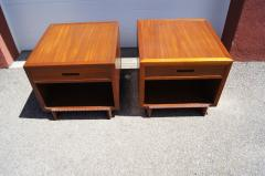 Frank Lloyd Wright Pair of Taliesin Nightstands by Frank Lloyd Wright for Heritage Henredon - 1026327