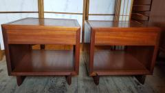 Frank Lloyd Wright Rare Frank Lloyd Wright Pair of Mahogany End Tables Nightstands Henredon 1955 - 2067586