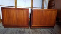 Frank Lloyd Wright Rare Frank Lloyd Wright Pair of Mahogany End Tables Nightstands Henredon 1955 - 2067587
