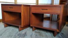 Frank Lloyd Wright Rare Frank Lloyd Wright Pair of Mahogany End Tables Nightstands Henredon 1955 - 2067588
