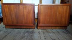 Frank Lloyd Wright Rare Frank Lloyd Wright Pair of Mahogany End Tables Nightstands Henredon 1955 - 2067589