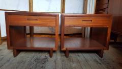 Frank Lloyd Wright Rare Frank Lloyd Wright Pair of Mahogany End Tables Nightstands Henredon 1955 - 2067590