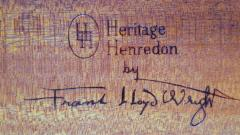 Frank Lloyd Wright Rare Frank Lloyd Wright Pair of Mahogany End Tables Nightstands Henredon 1955 - 2067592