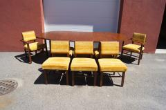 Frank Lloyd Wright Taliesin Dining Table Eight Chairs by Frank Lloyd Wright for Heritage Henredon - 1026339