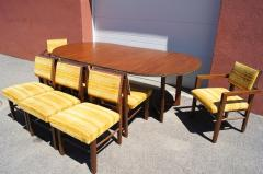 Frank Lloyd Wright Taliesin Dining Table Eight Chairs by Frank Lloyd Wright for Heritage Henredon - 1026340