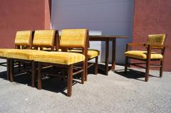Frank Lloyd Wright Taliesin Dining Table Eight Chairs by Frank Lloyd Wright for Heritage Henredon - 1026341