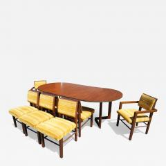 Frank Lloyd Wright Taliesin Dining Table Eight Chairs by Frank Lloyd Wright for Heritage Henredon - 1029093