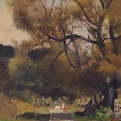 Franklin De Haven American Autumn Landscape Oil Painting Signed and Dated by Benjamin De Haven - 1154329
