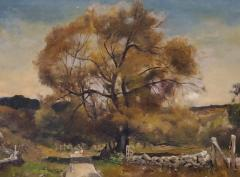 Franklin De Haven American Autumn Landscape Oil Painting Signed and Dated by Benjamin De Haven - 1154330