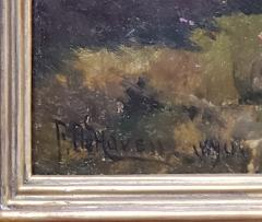Franklin De Haven American Autumn Landscape Oil Painting Signed and Dated by Benjamin De Haven - 1154331