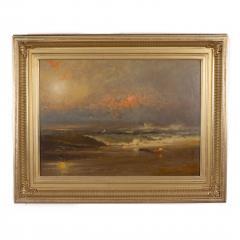 Franklin Dullin Briscoe Oil on academy board seascape - 1725516